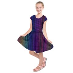 Abstract Background Plaid Kids  Short Sleeve Dress by HermanTelo