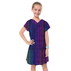 Abstract Background Plaid Kids  Drop Waist Dress by HermanTelo