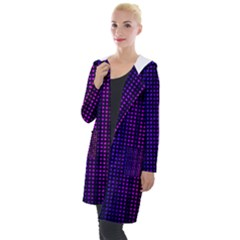 Abstract Background Plaid Hooded Pocket Cardigan by HermanTelo