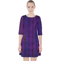 Abstract Background Plaid Pocket Dress