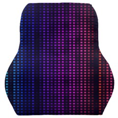 Abstract Background Plaid Car Seat Back Cushion