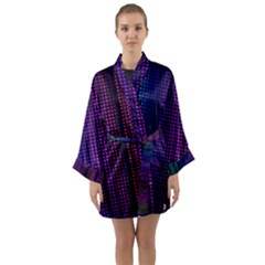 Abstract Background Plaid Long Sleeve Kimono Robe by HermanTelo