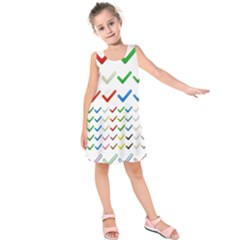 Confirm Button Metallic Metal Set Kids  Sleeveless Dress