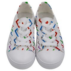 Confirm Button Metallic Metal Set Kids  Low Top Canvas Sneakers