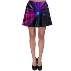 Abstract Background Lightning Skater Skirt by HermanTelo