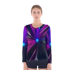 Abstract Background Lightning Women s Long Sleeve Tee by HermanTelo