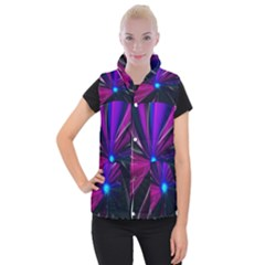 Abstract Background Lightning Women s Button Up Vest by HermanTelo