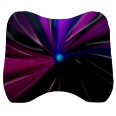 Abstract Background Lightning Velour Head Support Cushion