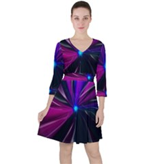Abstract Background Lightning Ruffle Dress