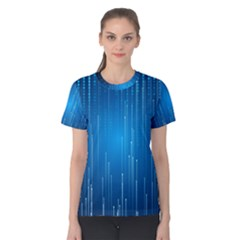Abstract Line Space Women s Cotton Tee