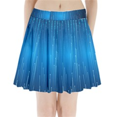 Abstract Line Space Pleated Mini Skirt by HermanTelo