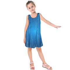 Abstract Line Space Kids  Sleeveless Dress