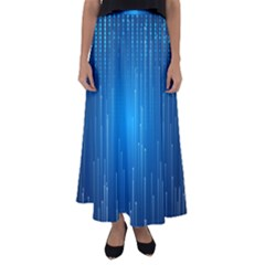 Abstract Line Space Flared Maxi Skirt