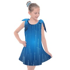 Abstract Line Space Kids  Tie Up Tunic Dress by HermanTelo