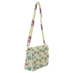 Animals Pastel Children Colorful Shoulder Bag With Back Zipper by HermanTelo