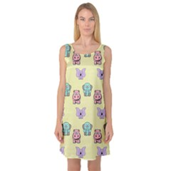 Animals Pastel Children Colorful Sleeveless Satin Nightdress by HermanTelo