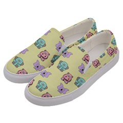 Animals Pastel Children Colorful Men s Canvas Slip Ons by HermanTelo
