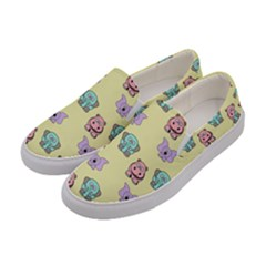 Animals Pastel Children Colorful Women s Canvas Slip Ons by HermanTelo