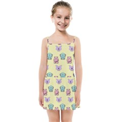 Animals Pastel Children Colorful Kids  Summer Sun Dress by HermanTelo