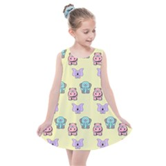 Animals Pastel Children Colorful Kids  Summer Dress by HermanTelo