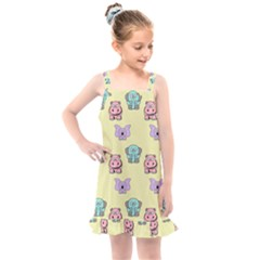 Animals Pastel Children Colorful Kids  Overall Dress by HermanTelo