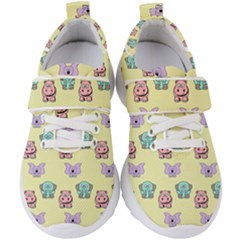 Animals Pastel Children Colorful Kids  Velcro Strap Shoes