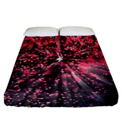 Abstract Background Wallpaper Space Fitted Sheet (queen Size)