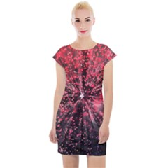Abstract Background Wallpaper Space Cap Sleeve Bodycon Dress