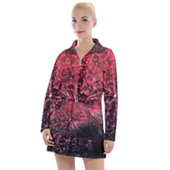 Abstract Background Wallpaper Space Women s Long Sleeve Casual Dress