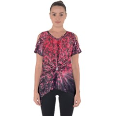 Abstract Background Wallpaper Space Cut Out Side Drop Tee