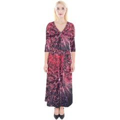 Abstract Background Wallpaper Space Quarter Sleeve Wrap Maxi Dress by HermanTelo