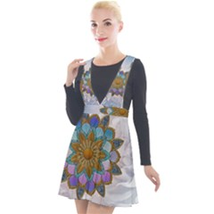 Wonderful Mandala Plunge Pinafore Velour Dress by FantasyWorld7