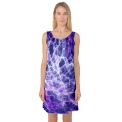 Abstract Background Space Sleeveless Satin Nightdress by HermanTelo