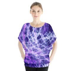 Abstract Background Space Batwing Chiffon Blouse by HermanTelo
