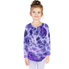 Abstract Background Space Kids  Long Sleeve Tee