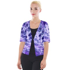 Abstract Background Space Cropped Button Cardigan