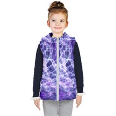 Abstract Background Space Kids  Hooded Puffer Vest by HermanTelo