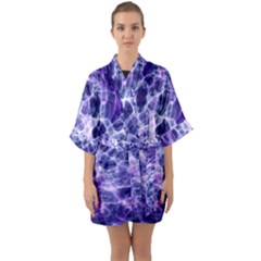 Abstract Background Space Quarter Sleeve Kimono Robe by HermanTelo