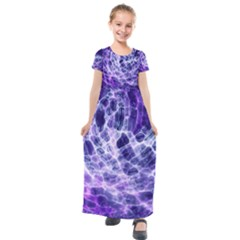 Abstract Background Space Kids  Short Sleeve Maxi Dress by HermanTelo