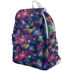 Abstract Background Graphic Space Top Flap Backpack