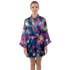 Abstract Background Graphic Space Long Sleeve Kimono Robe by HermanTelo