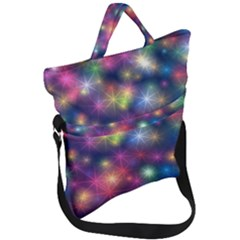 Abstract Background Graphic Space Fold Over Handle Tote Bag by HermanTelo