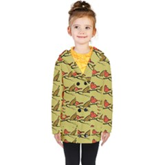 Bird Animal Nature Wild Wildlife Kids  Double Breasted Button Coat by HermanTelo