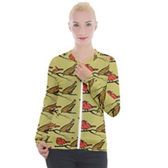 Bird Animal Nature Wild Wildlife Casual Zip Up Jacket