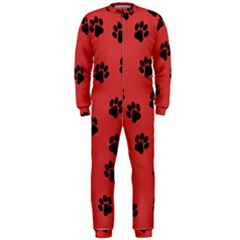 Paw Prints Background Animal Onepiece Jumpsuit (men)