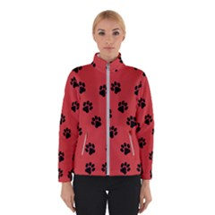 Paw Prints Background Animal Winter Jacket