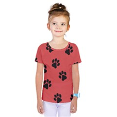 Paw Prints Background Animal Kids  One Piece Tee