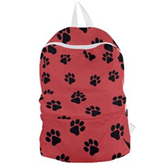 Paw Prints Background Animal Foldable Lightweight Backpack