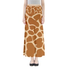 Giraffe Skin Pattern Full Length Maxi Skirt by HermanTelo