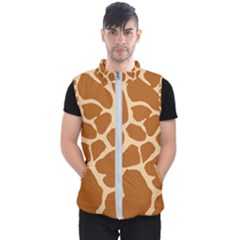 Giraffe Skin Pattern Men s Puffer Vest by HermanTelo